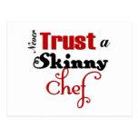 Never Trust a Skinny Chef Postcard