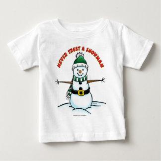 Never Trust a Snowman T-shirts