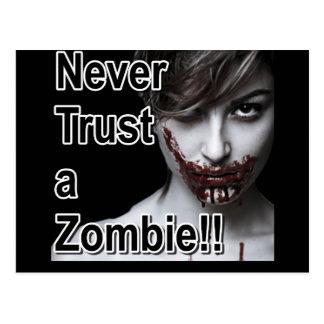 Never Trust a Zombie Postcard