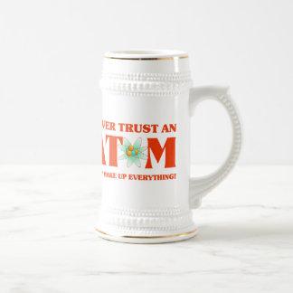 Never Trust An Atom In Atomic Orange Beer Stein