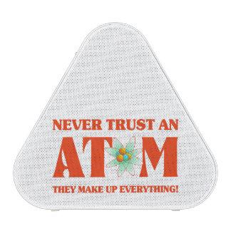 Never Trust An Atom In Atomic Orange Bluetooth Speaker