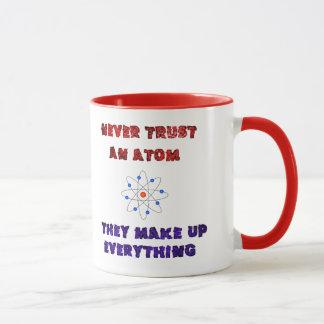 Never Trust an Atom Science Geek Nerd Joke Mug