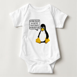 Never trust an OS you don't have sources for! Baby Bodysuit
