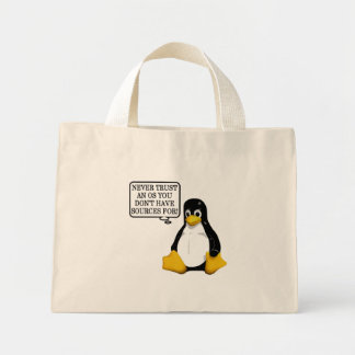 Never trust an OS you don't have sources for! Canvas Bag