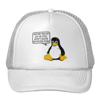 Never trust an OS you don't have sources for! Hat