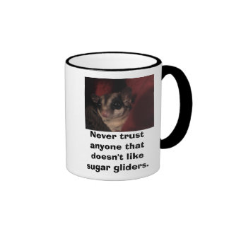 Never trust anyone that doesn'... ringer mug
