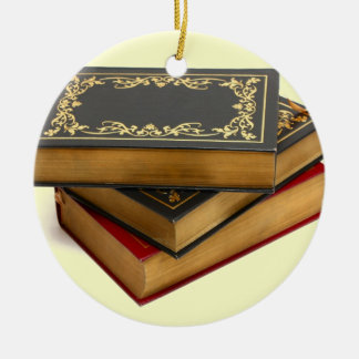Never trust anyone who has not brought a book ceramic ornament