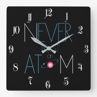 Never trust atom square wall clock