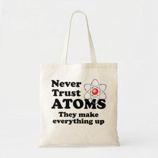 Never Trust Atoms Tote Bag