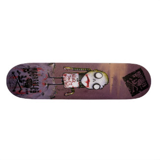 Never Trust the Living Zombie Skateboard by Agorab
