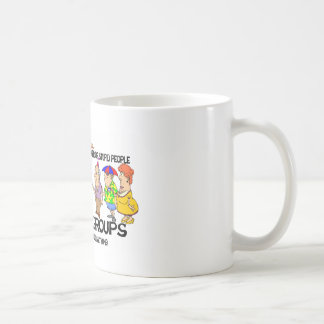Never under estimate the power of stupid people coffee mug