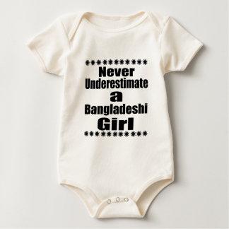 Never Underestimate A Bangladeshi  Girlfriend Baby Bodysuit