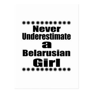 Never Underestimate A Belarusian Girlfriend Postcard