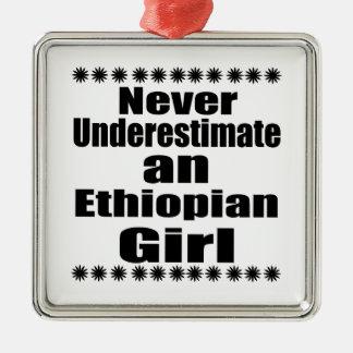Never Underestimate An Ethiopian Girl Metal Ornament