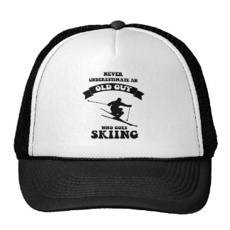 Never underestimate an old guy who goes skiing trucker hat