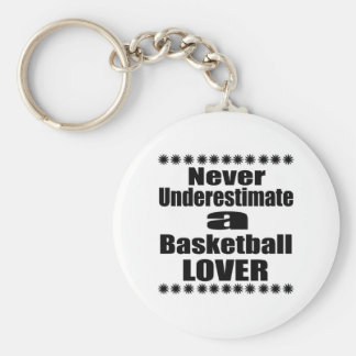 Never Underestimate Basketball Lover Keychain