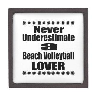 Never Underestimate Beach Volleyball Lover Jewelry Box