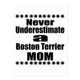 Never Underestimate Boston Terrier Mom Postcard
