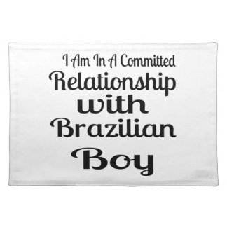 Never Underestimate Brazilian Daddy Cloth Placemat