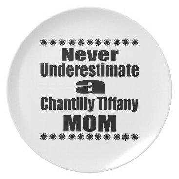 McTiffany Tiffany Aqua Never Underestimate Chantilly Tiffany Mom Dinner Plate