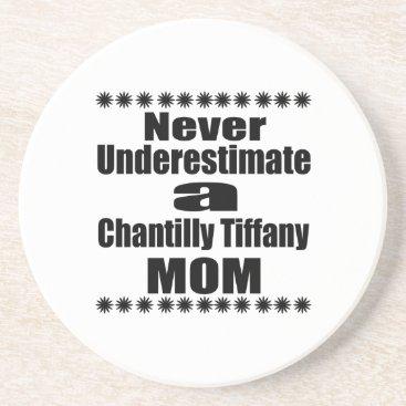 McTiffany Tiffany Aqua Never Underestimate Chantilly Tiffany Mom Drink Coaster