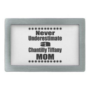 McTiffany Tiffany Aqua Never Underestimate Chantilly Tiffany Mom Rectangular Belt Buckle