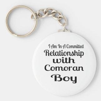 Never Underestimate Comoran Daddy Keychain
