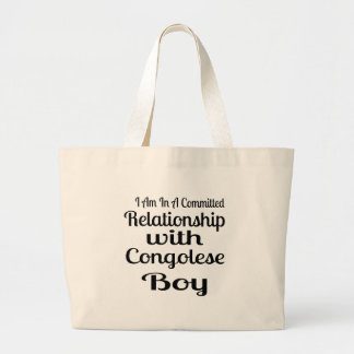 Never Underestimate Congolese Daddy Large Tote Bag