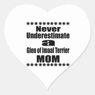 Never Underestimate Glen of Imaal Terrier  Mom Heart Sticker