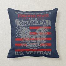Never underestimate Grandpa Throw Pillow