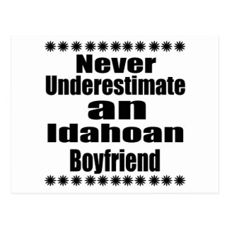 Never Underestimate  Idahoan Boyfriend Postcard