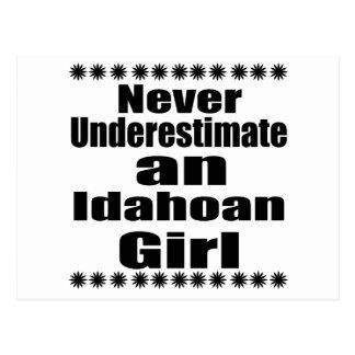 Never Underestimate  Idahoan  Girlfriend Postcard
