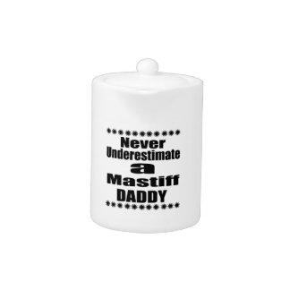 Never Underestimate Mastiff Daddy Teapot