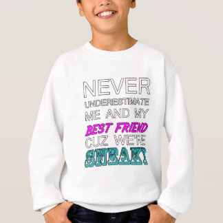 Never Underestimate Me And My Best Friend Gift Sweatshirt