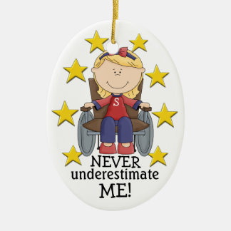 Never Underestimate ME - SRF Ceramic Ornament