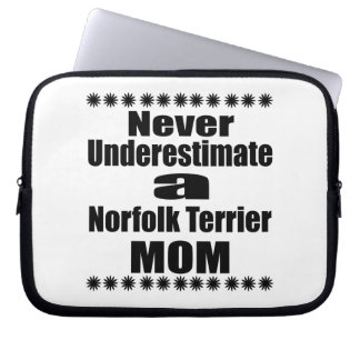 Never Underestimate Norfolk Terrier Mom Computer Sleeve