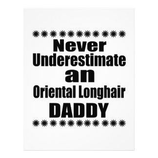 Never Underestimate Oriental Longhair Daddy Letterhead