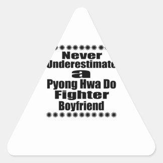 Never Underestimate  Pyong Hwa Do Fighter Boyfrien Triangle Sticker