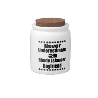 Never Underestimate  Rhode Islander Boyfriend Candy Jars