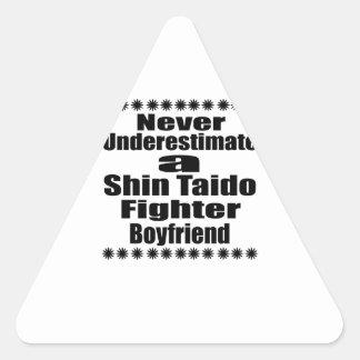 Never Underestimate  Shin Taido Fighter Boyfriend Triangle Sticker