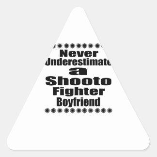 Never Underestimate  Shooto Fighter Boyfriend Triangle Sticker