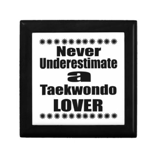 Never Underestimate Taekwondo Lover Jewelry Box