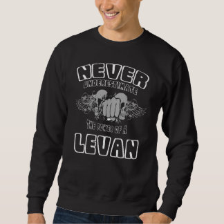 Never Underestimate The Power Of A LEVAN Sweatshirt