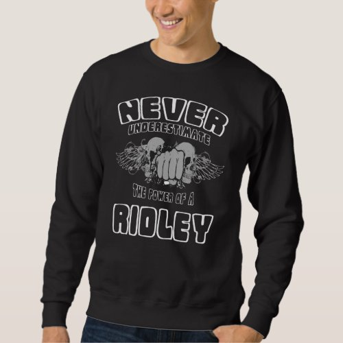 Never Underestimate The Power Of A RIDLEY Sweatshirt