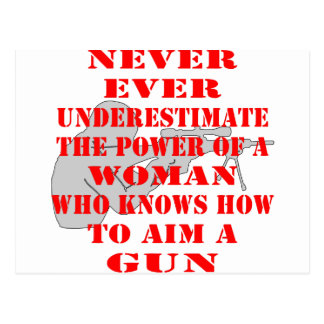 Never Underestimate The Power Of A Woman Postcard