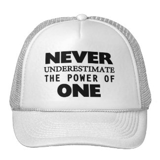 Never Underestimate The Power Of One Trucker Hat