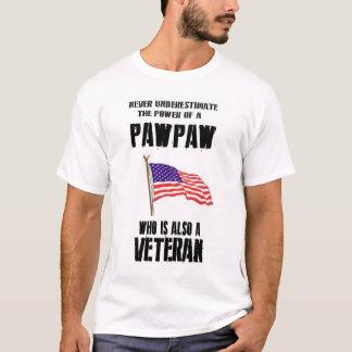 NEVER UNDERESTIMATE THE POWER PAWPAW VETERAN T-Shirt