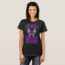 Never Underestimate The Strength Epilepsy Warrior T-Shirt
