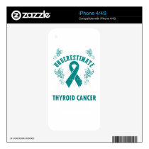 Never Underestimate The Strength Of Thyroid Cancer iPhone 4 Skins