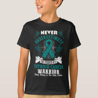 Never Underestimate The Strength Of Thyroid Cancer T-Shirt